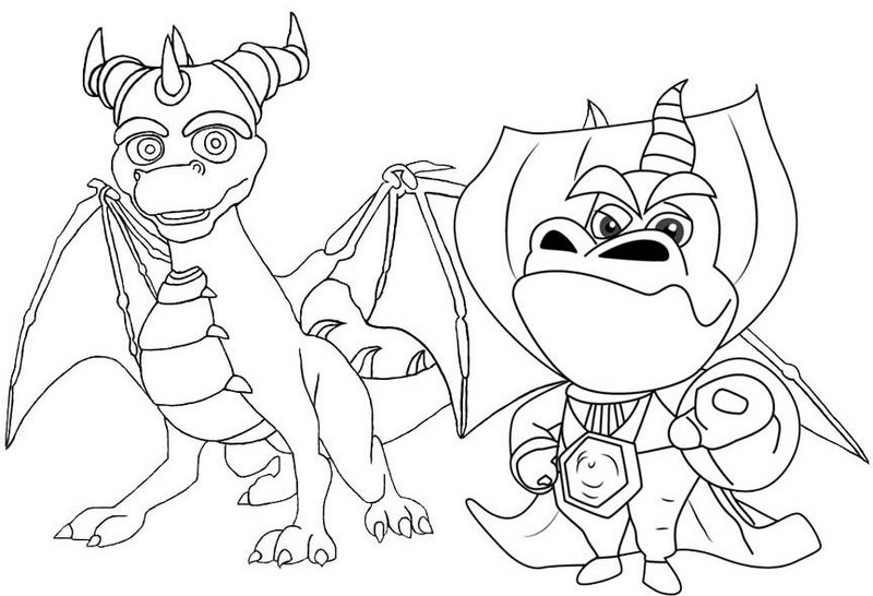 Spyro and Ripto Coloring Page