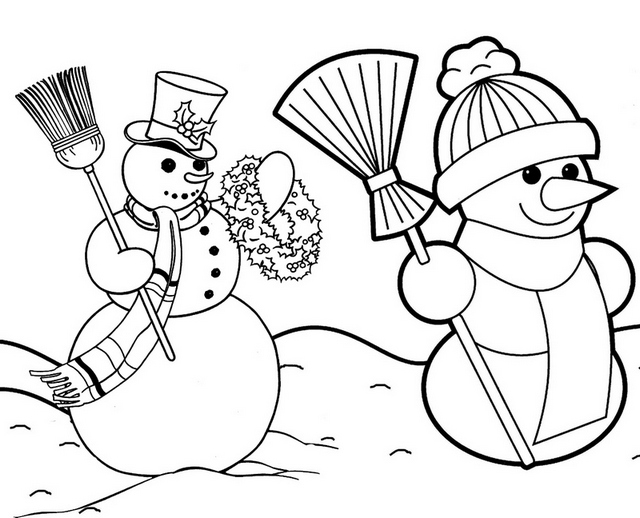 christmas snowman decoration coloring pages