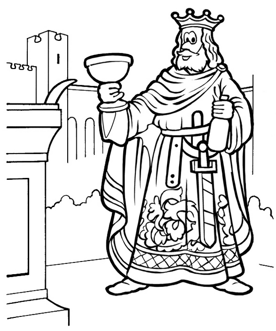 Cartoon King Coloring Page