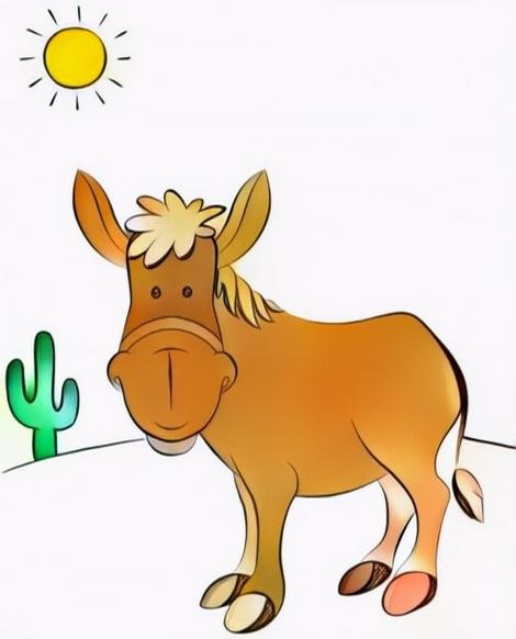 Donkey Coloring Work from Yogi