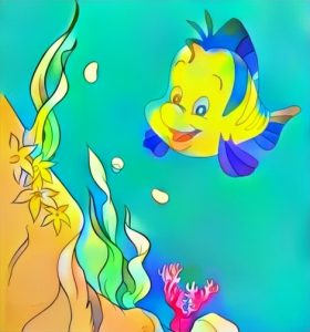 Flounder Little Mermaid Coloring Work from Ananta