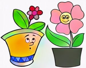 Flower Pot Coloring Work from Angie