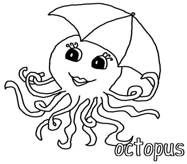 Fun Octopus Coloring Page