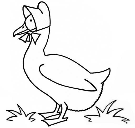 Funny Goose Cartoon Coloring Page