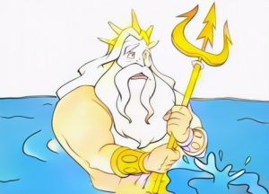 King Triton Coloring Work from Andie