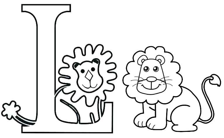 Letter L for Lion Coloring Page