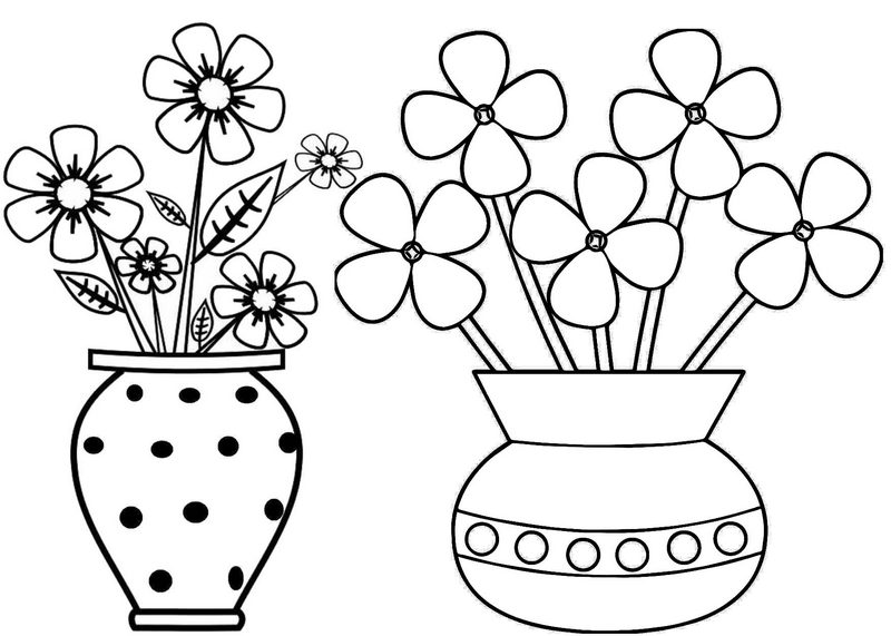 New classical handmade pottery jar flower vase coloring page
