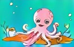 Top Ten Funny Octopus Coloring Pages for Kids