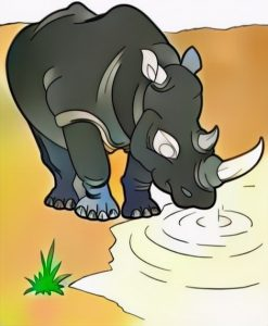Rhinoceros coloring work from Raffi