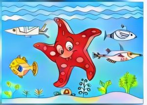 Starfish Coloring Work from Ani