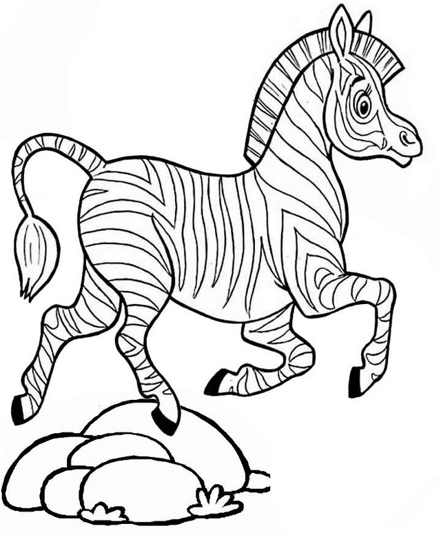 Zebra Coloring Page Online for Kids