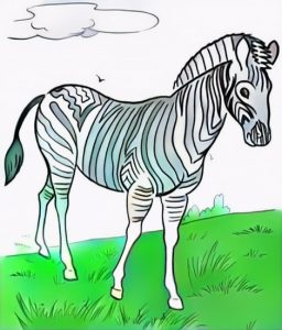 Zebra Coloring Work from Zain