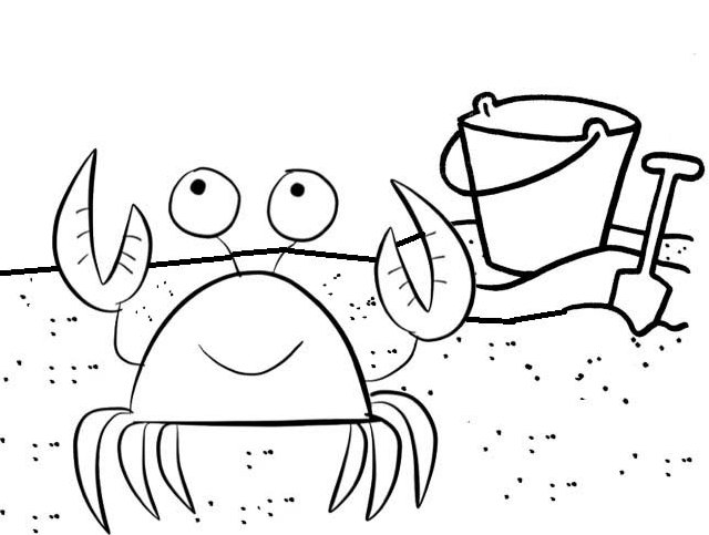 awesome crab coloring page online