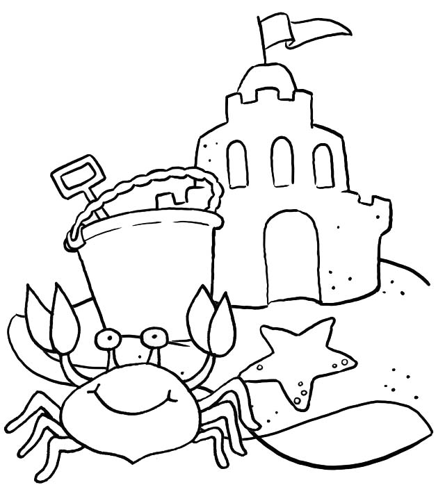 best crab coloring page for kids