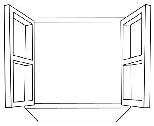 elegant window coloring page