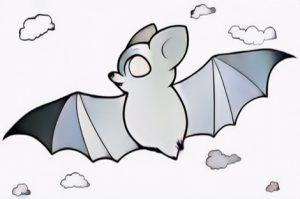 Bat cartoon coloring work from Nindie
