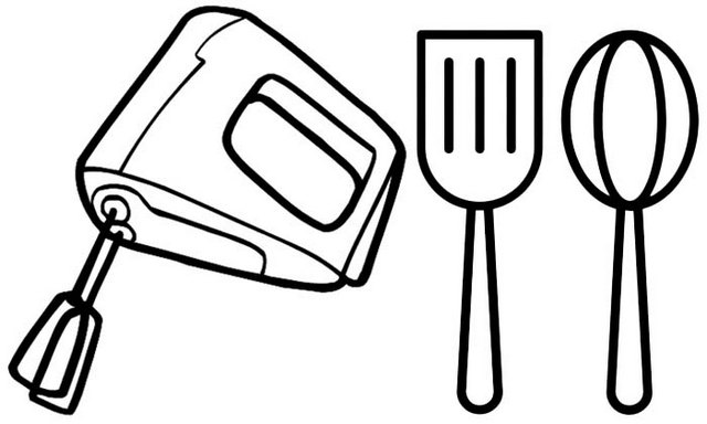 Best Baking Tools Coloring Page