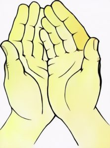 Hand of Prayers coloring work from Andien
