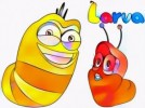 Top Ten Cute Larva Coloring Pages for Kind Kids