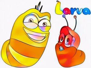 Larva Coloring Work from Etienne