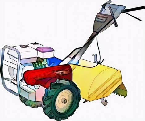Lawn Mower Coloring Work from Billah