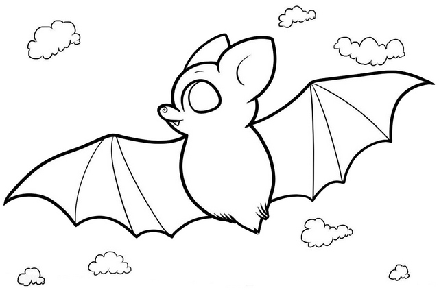 fun bat coloring page for kids