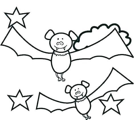 twin bats cartoon coloring page