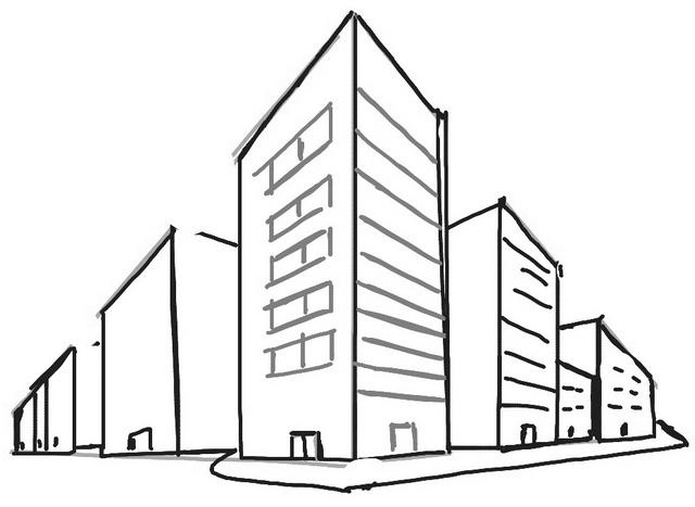3D Skyscraper Coloring Page