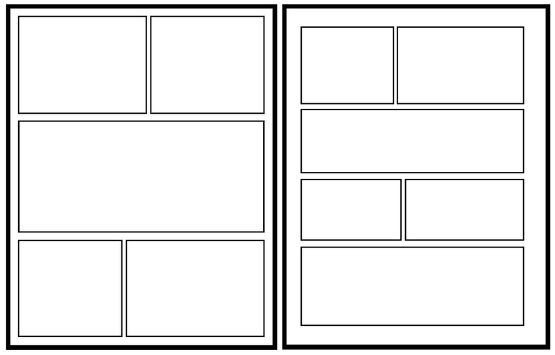 Blank Comic Book 2 Side