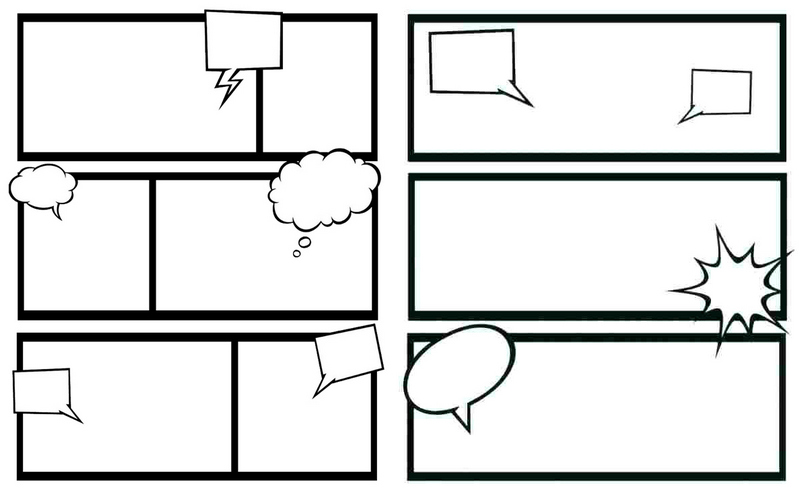 Blank Comic Book Layout
