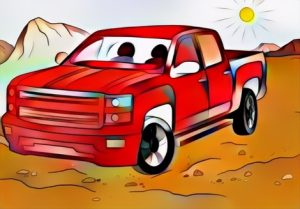 Chevy Truck Coloring Work from Anton