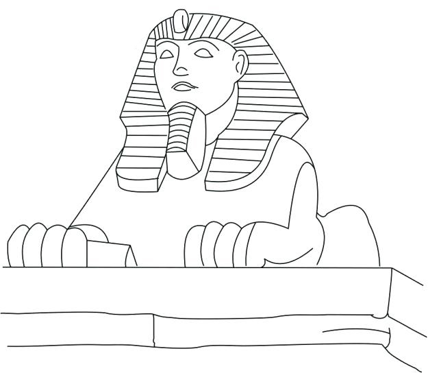 Great Sphinx of Giza Coloring Page
