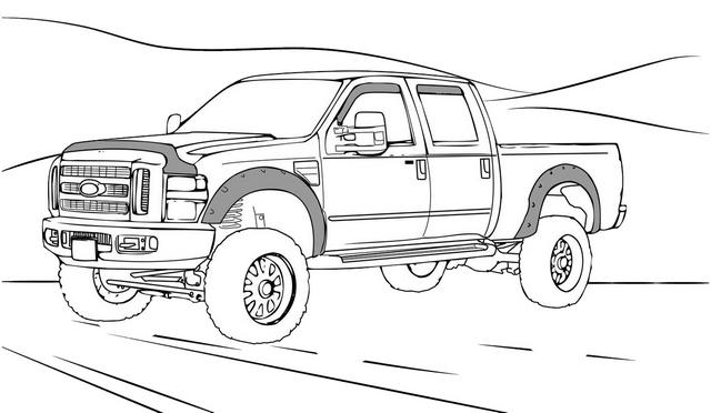 Silverado 1500 chevy truck coloring page
