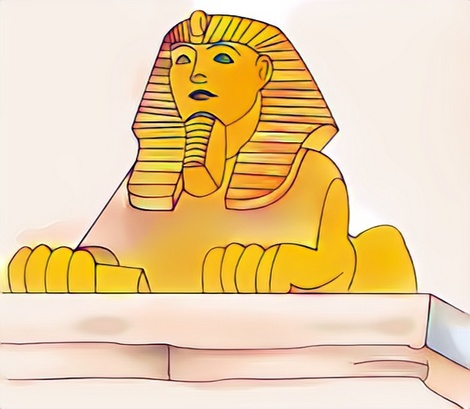 Sphinx coloring work craft from Merlin