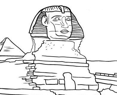 ancient sphinx coloring page
