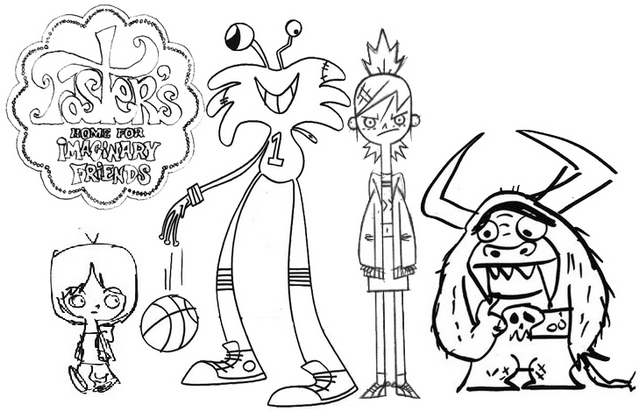 best foster home for imaginary friends coloring page