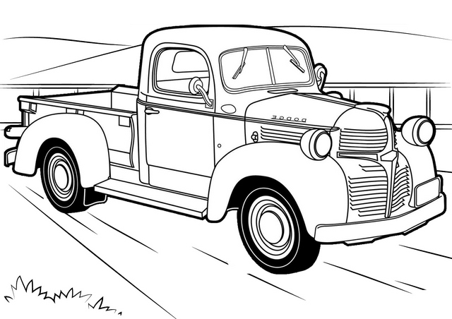 classic chevy truck coloring page