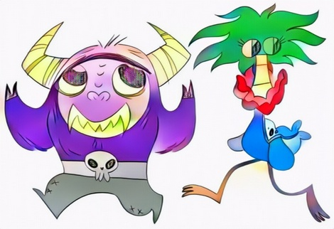 foster home for imaginary friends coloring work from Zaky
