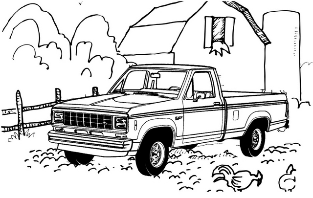lowered chevy truck coloring page