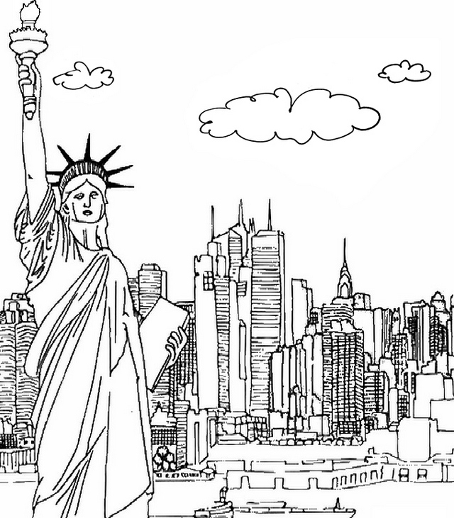 skyscraper New York Coloring Page