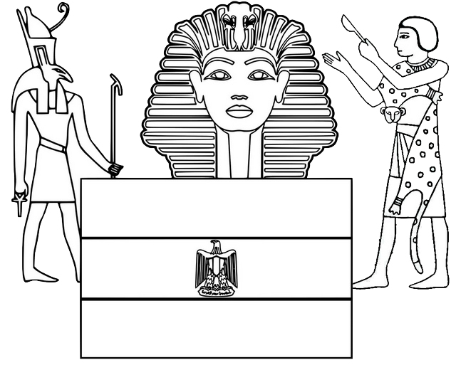sphinx egypt flag alpha phi alpha coloring page