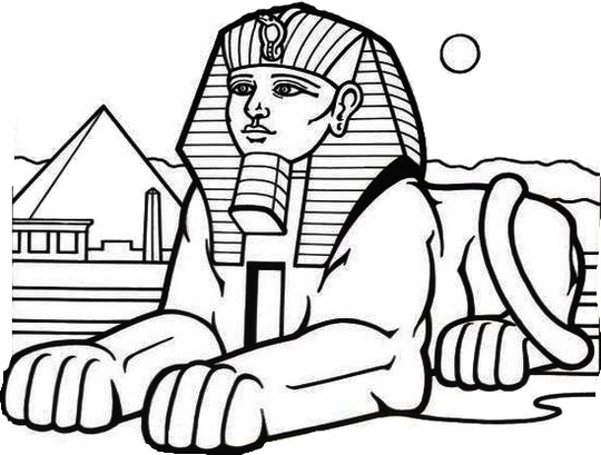 wonderful sphinx egypt coloring page