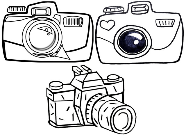 Camera for Photography coloring page