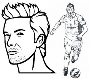David Beckham and Gareth Bale Coloring Page