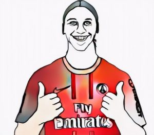 Ibrahimovic Coloring Work from Joko