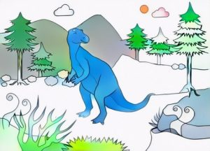 Iguanodon Coloring Work from Desta