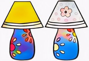 Lamp Coloring Work from Hilda