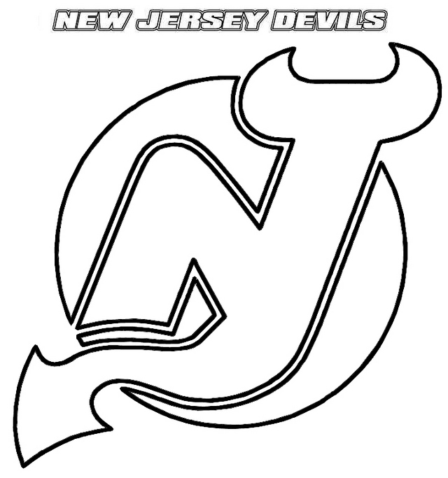 New Jersey Devils Newark Coloring Page