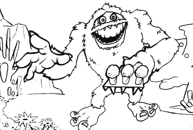 Rudolph Yeti Coloring Page