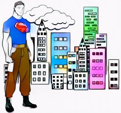 Superboy Coloring Work from Eko